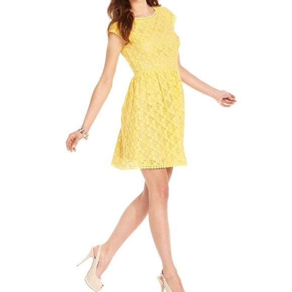 7dada4df80d Kensie Dresses   Skirts - Macy s Kensie Yellow Spring Dress size XL